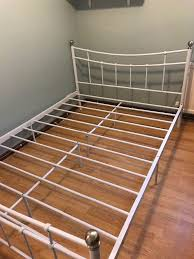 white metal double bed frame in durham county durham gumtree