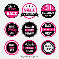 black friday pink sale pink black friday sticker collection vector free download