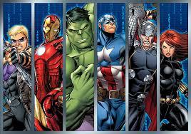 marvel avengers assemble strips wallpaper mural amazon com