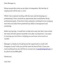 resignation letter thanks letter after resignation to boss for