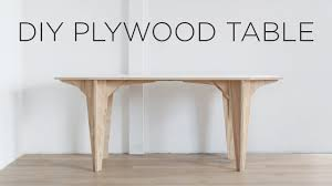 Plywood Coffee Table Diy Plywood Table Made From A Single Sheet Of Plywood