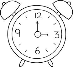 alarm clock coloring page contegri com