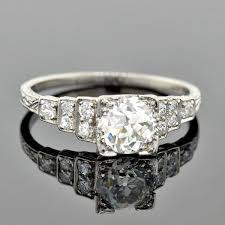 art deco platinum diamond
