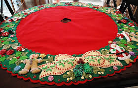 bucilla tree skirt kit white pictures to pin on pinsdaddy