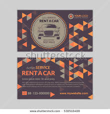 Car Service Business Card Rent Car Business Card Template Abstract Stock Vector 530518405