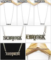 brand name necklace images Solt and pepper rakuten global market advance city name plate jpg