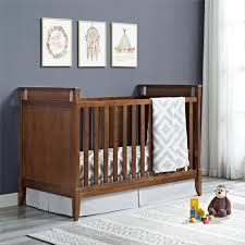 Infant Convertible Cribs by Dorel Living Baby Relax Alvar 2 In 1 Convertible Crib Walnut