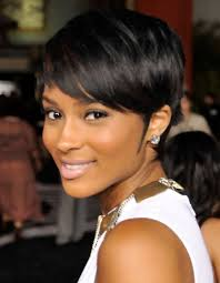 front view of side swept hairstyles ciara short hairstyle side swept part pretty designs