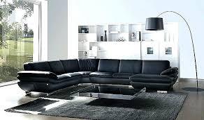 canapé d angle contemporain canape d angle design contemporain canapac dangle en pu noir et