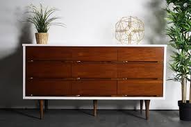 gorgeous and versatile 2 tone mid century long dresser credenza