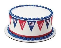 amazon com ny giants football pennant edible cake border