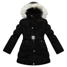 richie house big girls padded winter jacket with belt