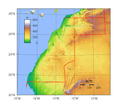 Map Of Western Africa by Detailed Topographical Map Of Western Sahara Western Sahara