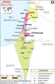 Israel World Map by Mapa De Israel Online Map
