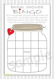 bridal shower gift bingo best of free bridal bingo template free templatefree template