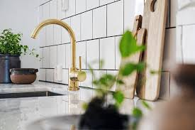 brass faucets kitchen brass accent kitchen atticmag