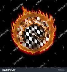 Flag Burning Legal Burning Racing Flag Speedometer Abstract Illustration Stock