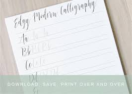edgy modern calligraphy lettering worksheets calligraphy practice