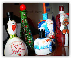 country painting christmas bottles my blog craftpatisserie