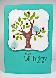 handmade birthday card arbor day inspired kitchen table stamper