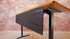 Panel Desk Uplift Desk Modesty Panel U0026 Cable Management Youtube