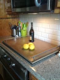induction cooktop cover wood from lowes cut to fit oversized
