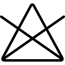 washing option symbol of a triangle with a cross icons free