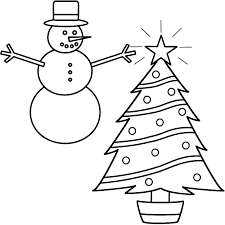 drawn snowman christmas coloring page pencil and in color drawn