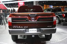 nissan titan 2015 2016 nissan titan xd rear at the 2015 detroit auto show indian