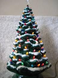 ceramic light up christmas tree vintage 26 flocked snow ceramic lighted christmas tree