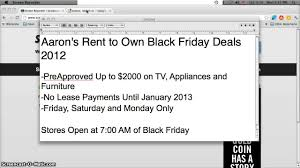 black friday dryer deals aarons rent to own first month free deal on tvs laptops and
