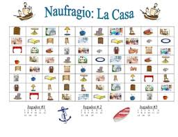 spanish house and furniture speaking writing activity naufragio