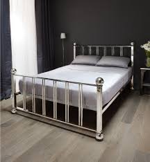 chrome bed frame gallery home fixtures decoration ideas