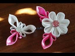 483 best kanzashi images on ribbon flower fabric