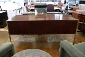 Used Office Furniture Online by Florence Knoll Rosewood Desk U0026 Marble Credenza Set Mid Century