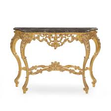 Baroque Coffee Table by Baroque Style Wood And Marble Console Table Selene 521 Sevensedie