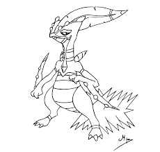 sceptile coloring pages more information