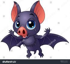 vector illustration cute baby bat flying stock vector 541046638