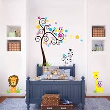 living room lovely white birch tree wall decal for nursery in full size of living room adorable colourful zebra tree wall decal lion and owls in white