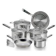 cookware calphalon tri ply stainless steel 13 piece cookware set