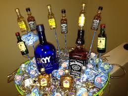 liquor baskets 21st birthday liquor basket those dum dum flowers took some time
