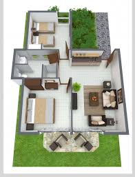 simple two bedroom house plans delightful 3d two bedroom house layout design plans 22449 interior