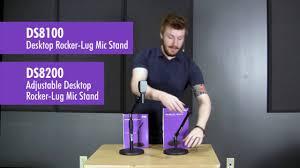 ds8100 u0026 ds8200 desktop rocker lug mic stands youtube