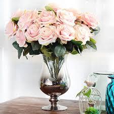 artificial flower arrangements artificial flower bouquet for wedding 10 heads