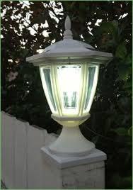 lighting 5x5 solar post lights white maine ornamental solar post