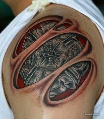 tattoo 3d mechanical 41 mechanical tattoos on shoulder