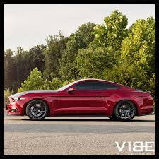 Red Mustang Black Wheels 20