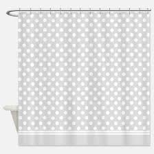 Grey And White Polka Dot Curtains Grey Polka Dot Shower Curtains Cafepress