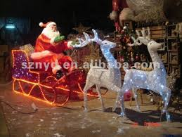 Buy Animated Christmas Decorations by Animated Running Deer With Colorful Santa Claus Decorations Buy