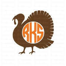 turkey monogram svg thanksgiving svg turkey svg svg files
